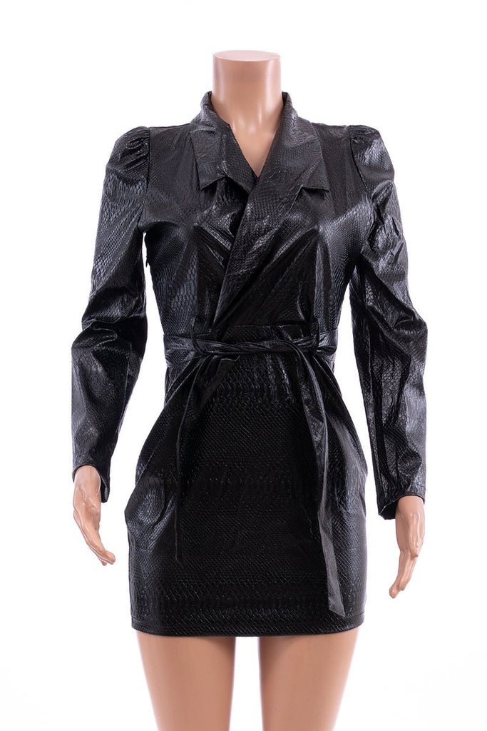 Blazer Leather Dress