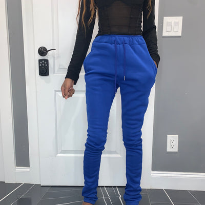 Thick Stacked Sweats - Blue