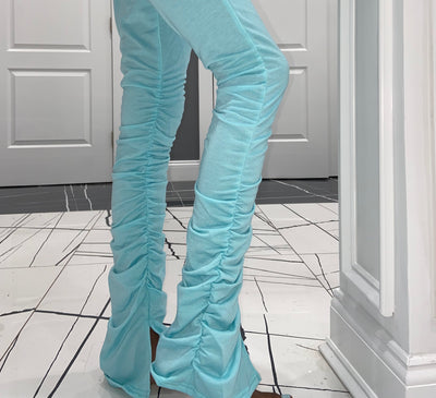 Baby Blue Stacked Sweats