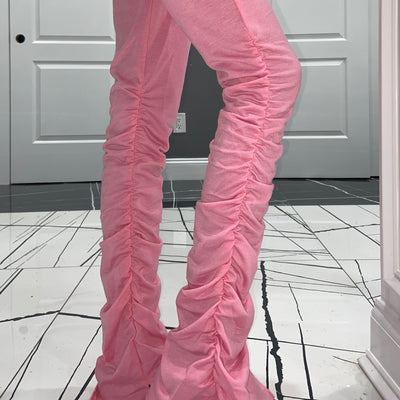 Pink Stacked Sweats