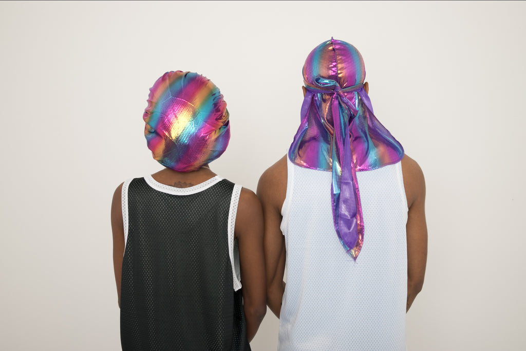 "Purple ""Neptune"" Bonnet & Durag"