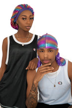 "Load image into Gallery viewer, Purple ""Neptune"" Bonnet & Durag"