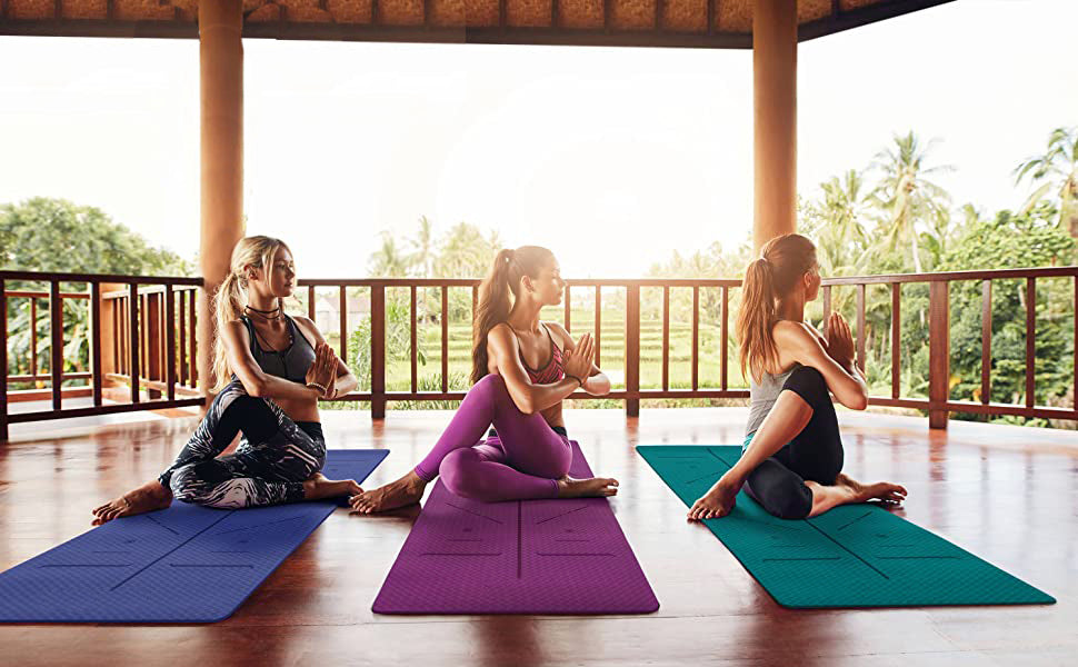No1 Rated Body Aligning Yoga Mat For Women