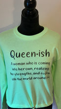 Load image into Gallery viewer, Queenish lightweight cropped sweatshirt