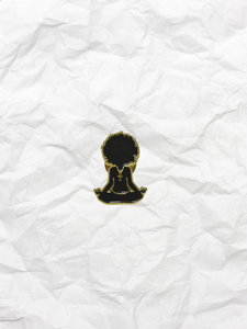 Black Yoga Queen badge
