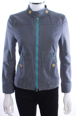 MARC JACOBS MOTORCYCLE  JACKET CHARCOAL SIZE 3 - London Couture  - 1