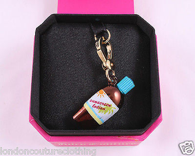 JUICY COUTURE SUNSCREEN LOTION BOTTLE GOLD BRACELET CHARM YJRU5711 - London Couture  - 1