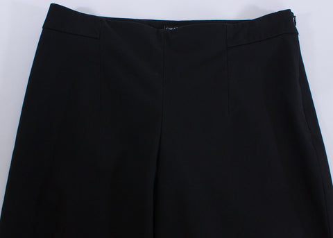 CHANEL BLACK UNIFORM FLAT FRONT PANTS SIZE 8 - London Couture  - 1