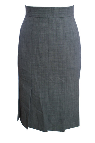 ESCADA BLACK WHITE HERRINGBONE SKIRT SIZE 8 US 38 EUR - London Couture  - 1