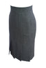 ESCADA BLACK WHITE HERRINGBONE SKIRT SIZE 8 US 38 EUR - London Couture  - 5
