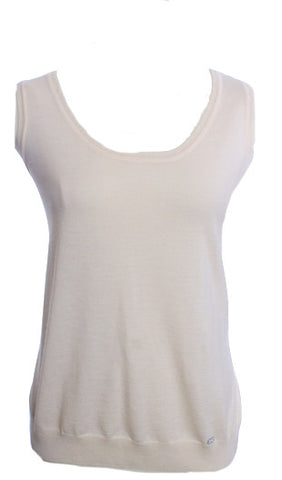 ESCADA CREAM WOOL SWEATER TANK SIZE 40US - London Couture  - 1
