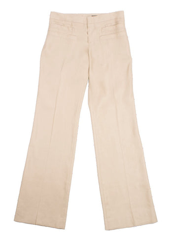 GUCCI STACKED WELTED POCKETS CAMEL COTTON MADE IN ITALY PANTS SZ 10 US 40 EUR - London Couture  - 1