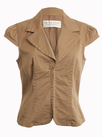 TRINA TURK LOS ANGELES PALM SPRINGS Tan Jacket size 8 - London Couture  - 1
