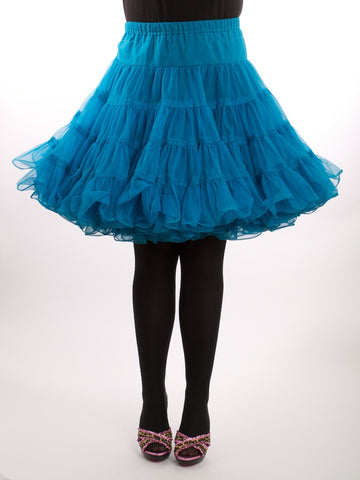 Partners Pleaser by Malco Modes Vintage Turquoise Crinoline Tutu Size XL - London Couture  - 1