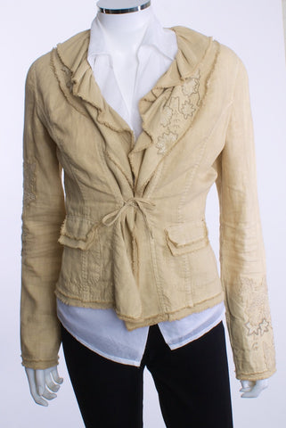 ELIE TAHARI RAW EDGED RUFFLE COLLAR JACKET - London Couture  - 1