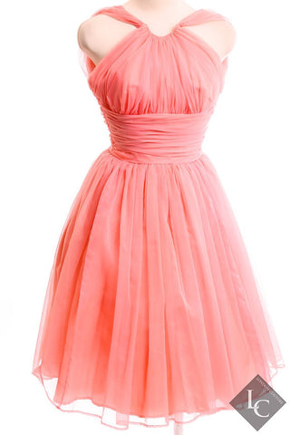 Emma Domb Vintage Pink 50's Dress Size Small - London Couture  - 1
