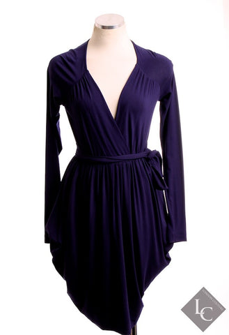 Pinko Navy Blue Long Sleeve Dress Size Small - London Couture  - 1