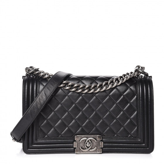 Black Quilted Flap Bag