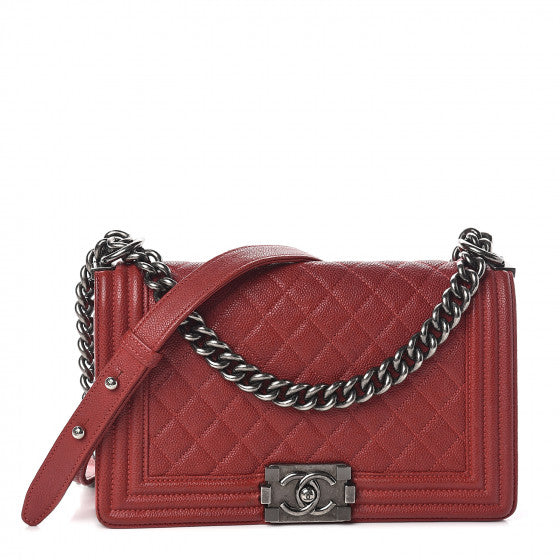 Red Quilted Flap Bag