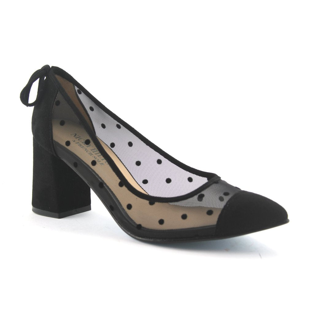 Holly - Black Polka Dot Mesh