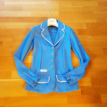 Load image into Gallery viewer, Spooks light blue show jacket ladies size 6 (size XS) - Robyn's Tack Room