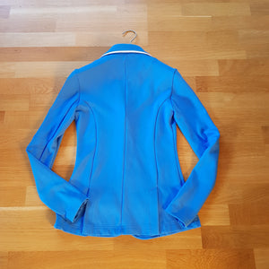 Spooks light blue show jacket ladies size 6 (size XS) - Robyn's Tack Room