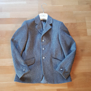 Mears grey tweed show jacket, girls size 10 - Robyn's Tack Room