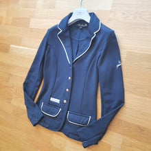 Load image into Gallery viewer, Spooks navy show jacket ladies size 6 (size XS)