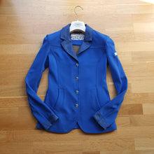 Load image into Gallery viewer, Animo blue show jacket ladies size 8
