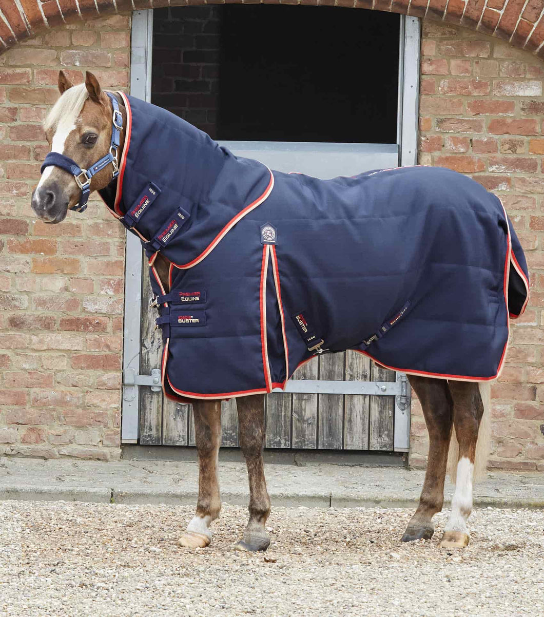 Premier Equine Pony Stable Buster 100g Stable Rug with Neck Cover