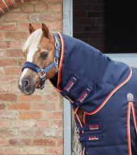 Load image into Gallery viewer, Premier Equine Pony Stable Buster 100g Stable Rug with Neck Cover