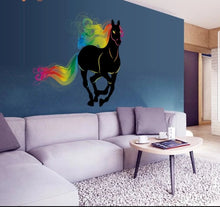 Load image into Gallery viewer, Vinyl PVC sticker wall art 'rainbow horse' 60cm x 60cm - Robyn's Tack Room