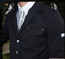Load image into Gallery viewer, Animo mens black show jacket  (Italian size 46) - Robyn's Tack Room