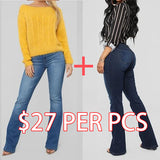 Last Day Promotion🔥Stretch High Waist Casual Boot-cut Jeans【Buy 2 Free Shipping】