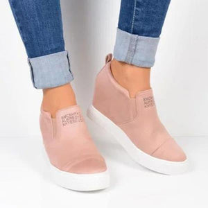 Letter Slip On Wedge Sneakers
