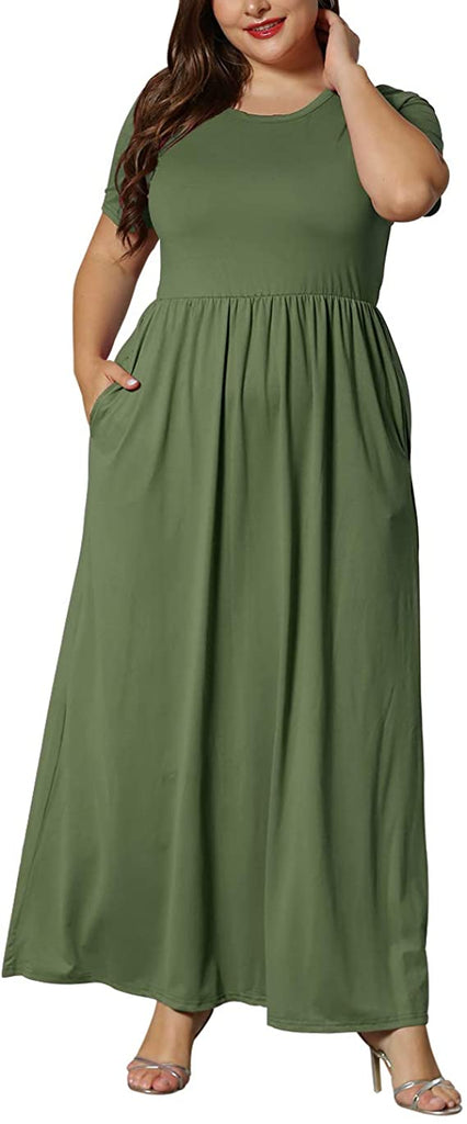 Loose solid color casual long skirt with pockets(BUY 2 GET FREE SHIPPING)