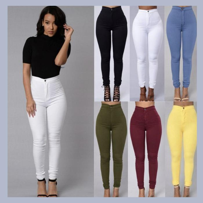 Last Day Promotion🔥 Stretchy Colored Shaper Jeans 【Buy 3 free shipping】