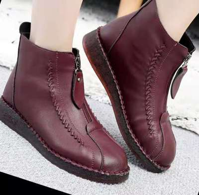 🔥Holiday Promotion🔥Genuine Leather Ankle Boots【Buy 3 Free Shipping】