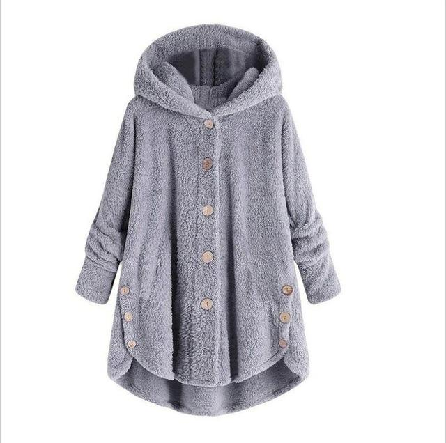 Fluffy Micro-Fleece Hoodie Pullover