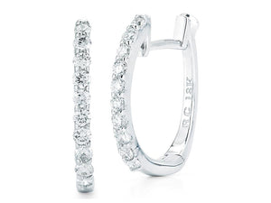 Roberto Coin Diamond Huggie Earrings