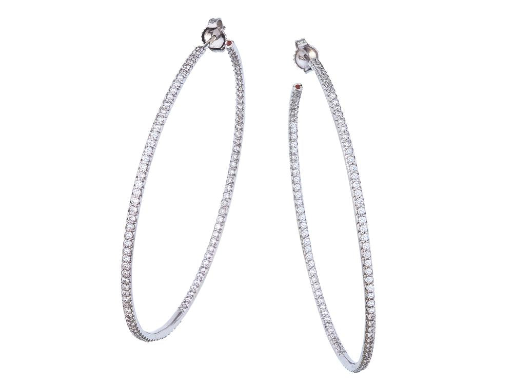 Roberto Coin XXLarge Inside Outside Diamond Hoops