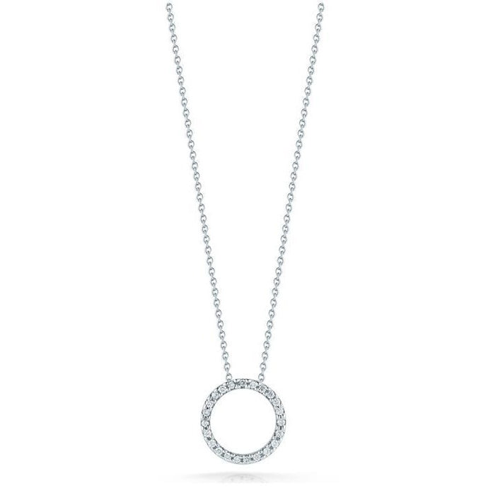 Roberto Coin Diamond Circle Pendant