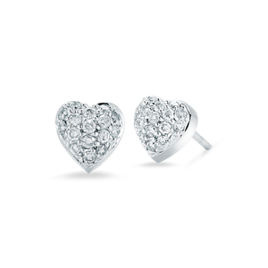 Roberto Coin Puffed Heart Earrings