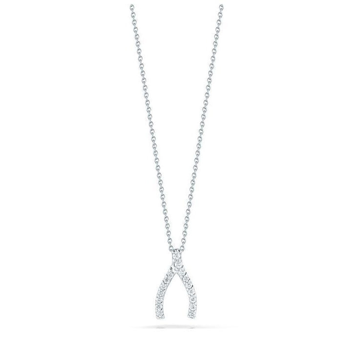 Roberto Coin Diamond Wishbone Pendant