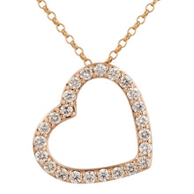 Load image into Gallery viewer, 14k White Gold Diamond Heart Necklace