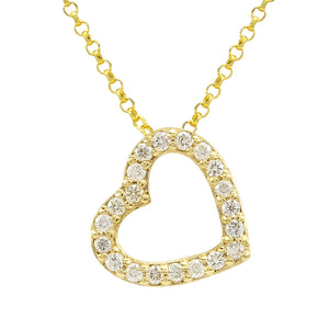 14k Rose Gold Diamond Heart Necklace