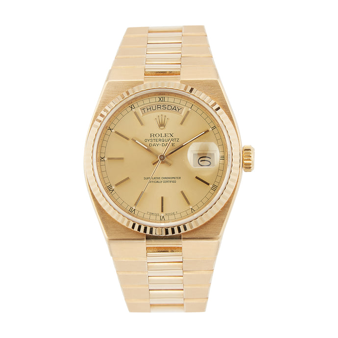 Pre-Owned 18k Gold Rolex 36mm Oysterquartz Day-Date President - Model 19018
