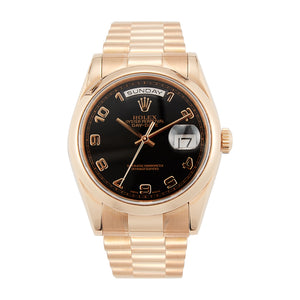 Pre-Owned 18k Rose Gold Rolex 36mm Day-Date President - Model 118205