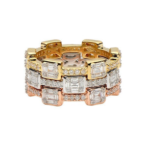 18k Tri-Color Stackable Rings