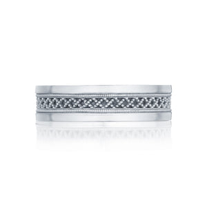 Gents 6mm Milgrain Wedding Band